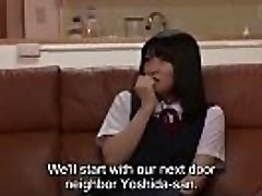 Subtitled insane Japanese mother CFNM soiree for shy stepdaughter