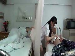 Japanese nurse loves sucking two partTrio