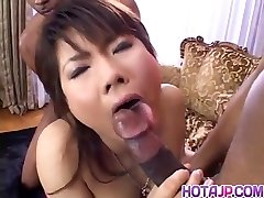 Masami Abe gets dick in interracial screwing