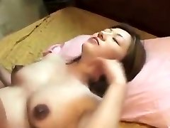 Oriental preggo creampied after fucking
