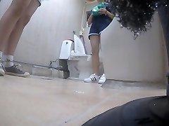 Korean girl using restroom part 5