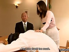 Asian slut Yui cheating on her fellow in his home