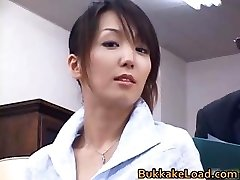 Sexy real asian Shiho getting jizm partThree