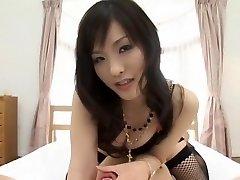 Exotic Japanese model Nao Ayukawa in Ultra-kinky Doggy Style, Stockings JAV movie