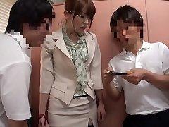 Insane Japanese model Yui Hatano in Best stockings, gangbang JAV clip