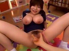 Insatiable Japanese mega-bitch Yui Serizawa in Exotic POV, Fingering JAV video