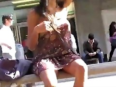 Asian Flashing In Public No Pants