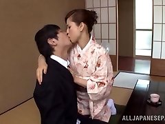Yuri Matsushima super-fucking-hot mature Japanese honey in kimono gets 69