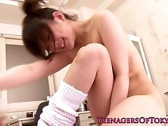 Japanese teen climaxes in classroom