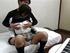 Asian - In school uniform, fucking and swallowing