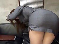 Incredible Chinese whore Riko Miyase in Finest Stockings/Pansuto, Office JAV vid
