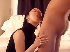 Asian wifey blowjob and plumb part 1