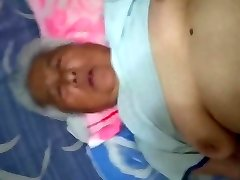 White-Haired Chinese Granny Enjoying Fuckfest