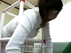 Busty Japanese wife sex with a younger boy