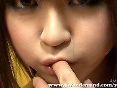 Cutie Mahiru Hino Masturbated Until She Sploogs