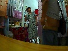 The curtain supermarket aunt Flashing