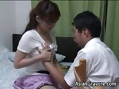 Sexy asian with immense funbags home teacher part1