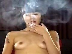 Exotic homemade Diminutive Tits, Smoking pornography scene