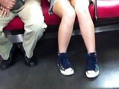 japanese upskirt no panties in train
