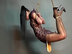 Yaner extreme hogtie-drape challenge