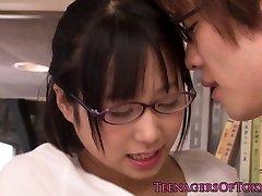 Guiltless asian firsttimer geek ravaging in glasses
