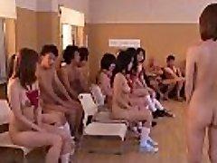 Subtitled uncensored Japanese nudist school bar sex