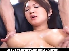Busty Japanese doll senses eager to fuck