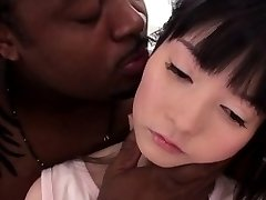 Tiny smallish nippon pounded hard by BBC