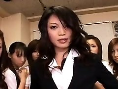 Asian Stunner in Group sex