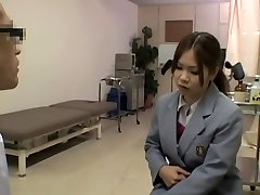 Kinky hot medical exam for a smoking super-steamy Japanese gal