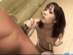 Sensual Ageha Kinashita thirsts to gulp some jizz
