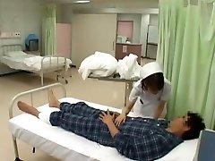 Amazing Japanese model Nozomi Osawa, Luna Kanzaki, Hinata Komine in Insane Nurse, Pantyhose JAV video