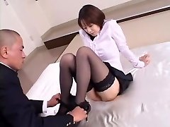 Crazy Japanese lady Misa Nishida in Exotic Cunnilingus, Stockings JAV clip