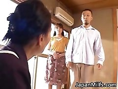 Horny japanese MILFS sucking and plowing partFour