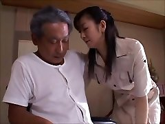 japanese wifey widow takes care of dad in law  2