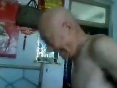Pounding a Chinese Granny