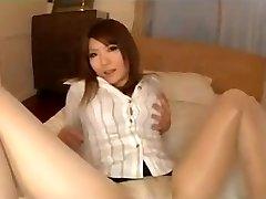Pantyhose Asian Legs Taunt With Panties