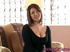 Big-titted japanese milf enjoys deepthroating after toy have fun
