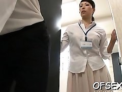 Bitchy scene of real hard core pummeling in the workplace