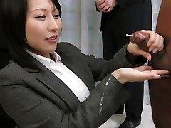 Outstanding Japanese whore Yuuna Hoshisaki in Best JAV uncensored Handjobs clip