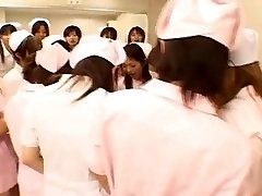 Japanese nurses enjoy sex on top