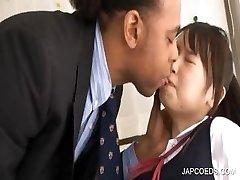 Japanese schoolgirl gets twat rubbed