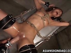 Japanese restrain bondage fucking machine