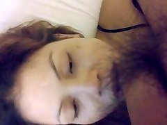 Riding plumb and mouth cum with face
