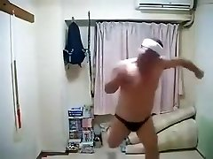 Softcore Horny Japanese Male Dancing