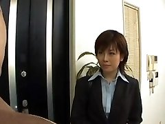 Yukino undresses office suit while inhaling