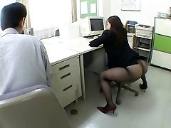 Japanese office girl drives me ultra-kinky by airliner1