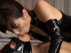 Wild Japanese slut Miyuki Yokoyama in Finest fetish, latex JAV scene