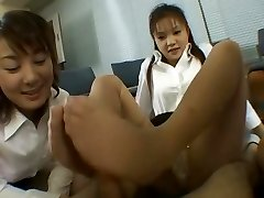 All Those Pantyhose Feet Footjob