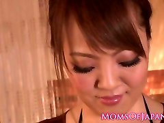 Busty japanese milf tit drilling